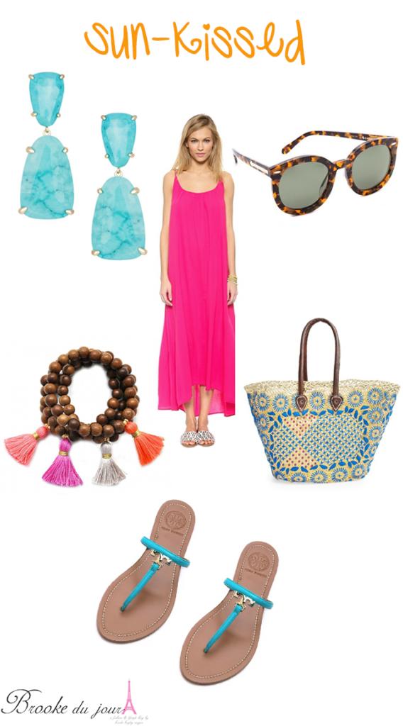 Kendra Scott turquoise statement earrings