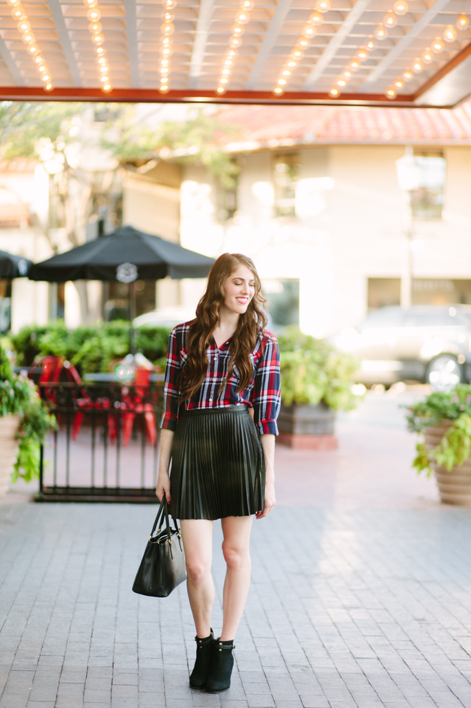 Little Leather Skirt | Brooke du jour