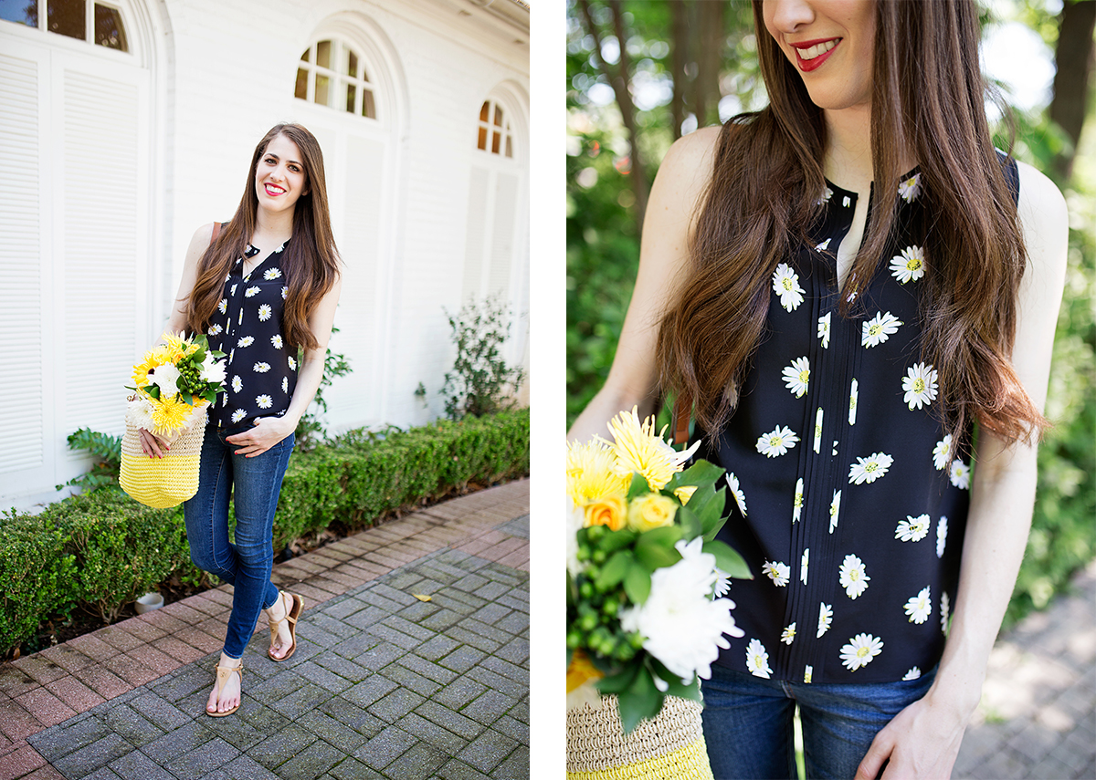 Kate Spade daisy top