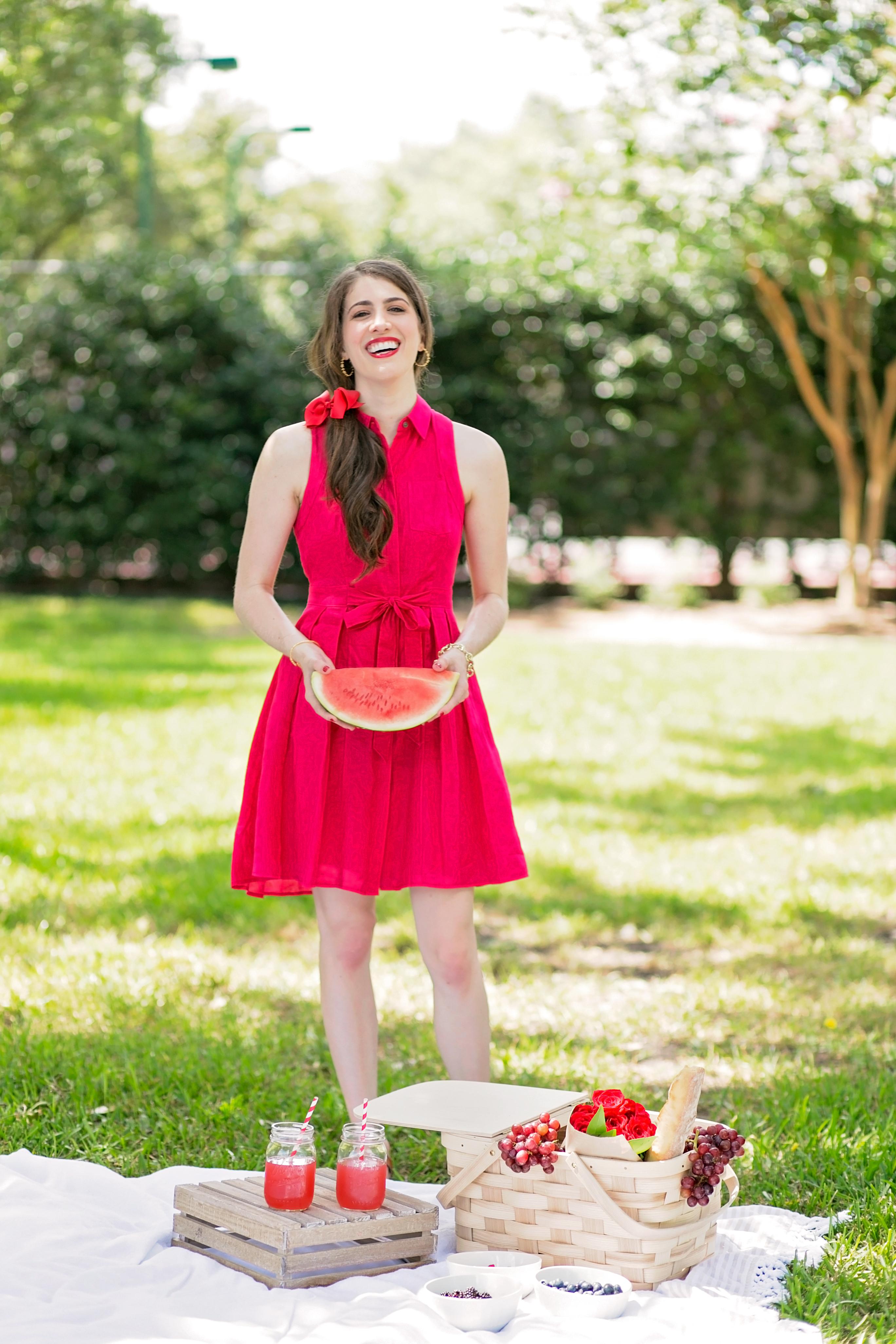 Anthropologie red shirtdress