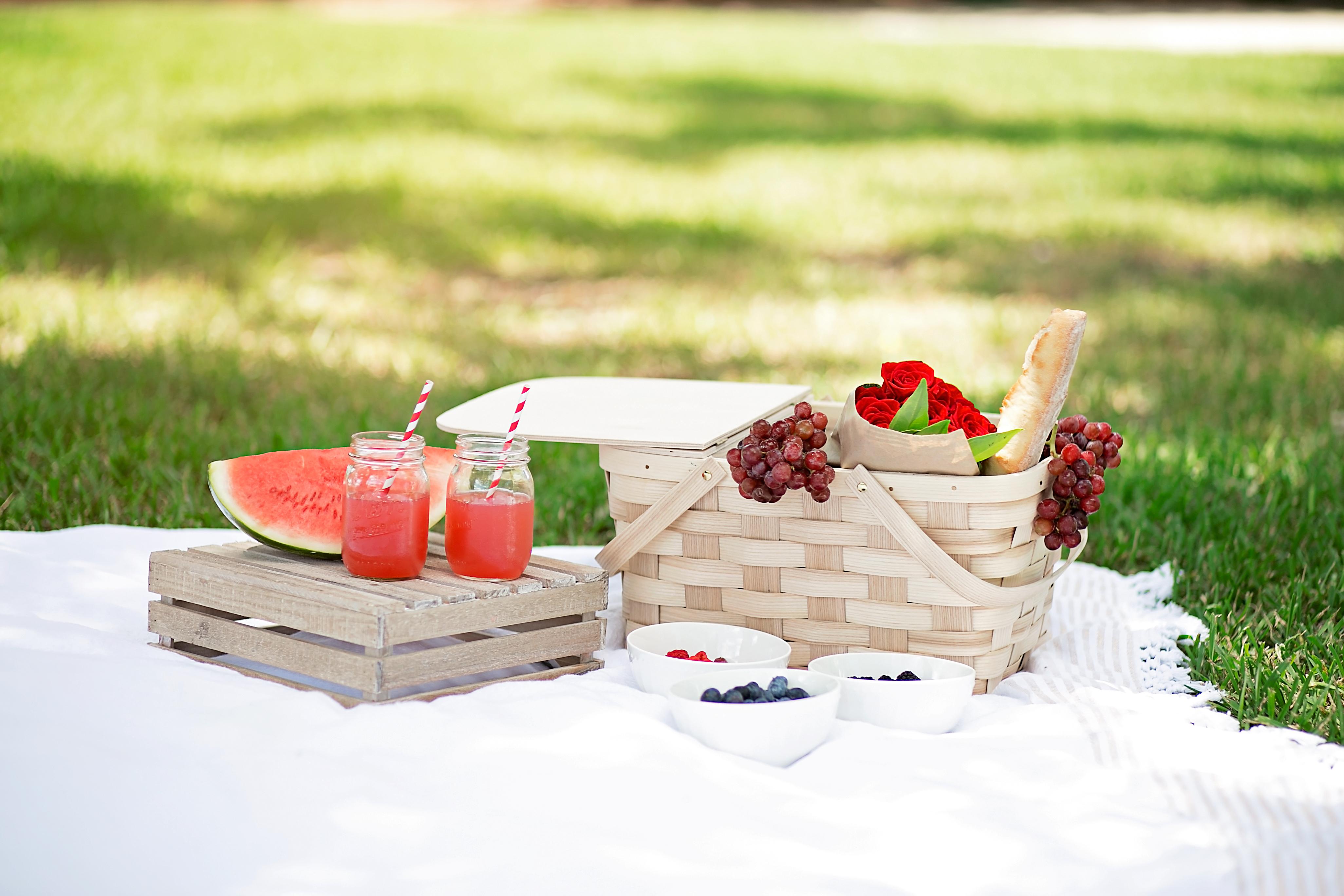 2 crate-and-barrel-picnic-basket