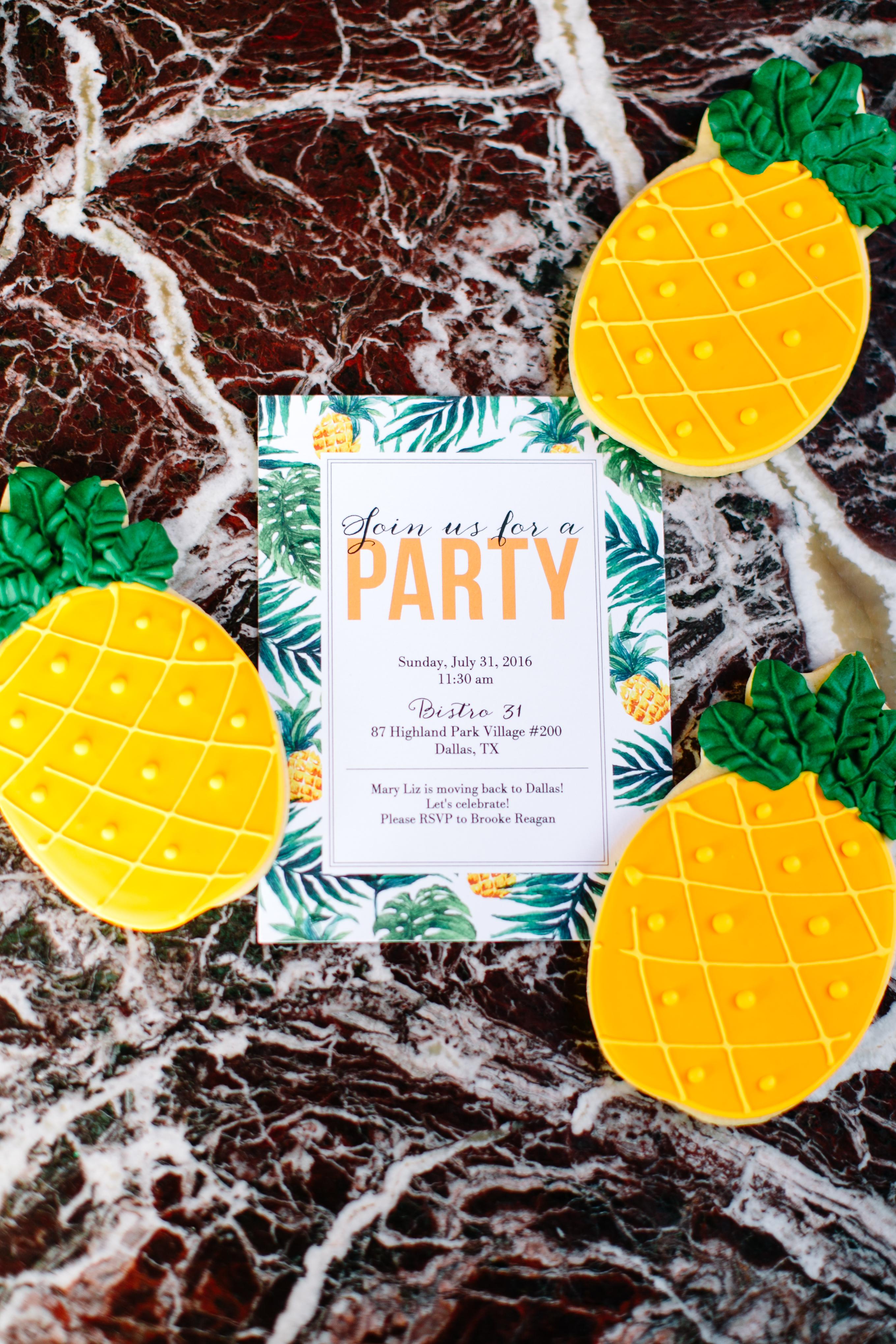 Tiny Prints pineapple party invitations