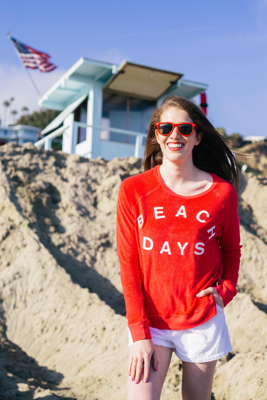Sundry Beach Days terry sweatshirt