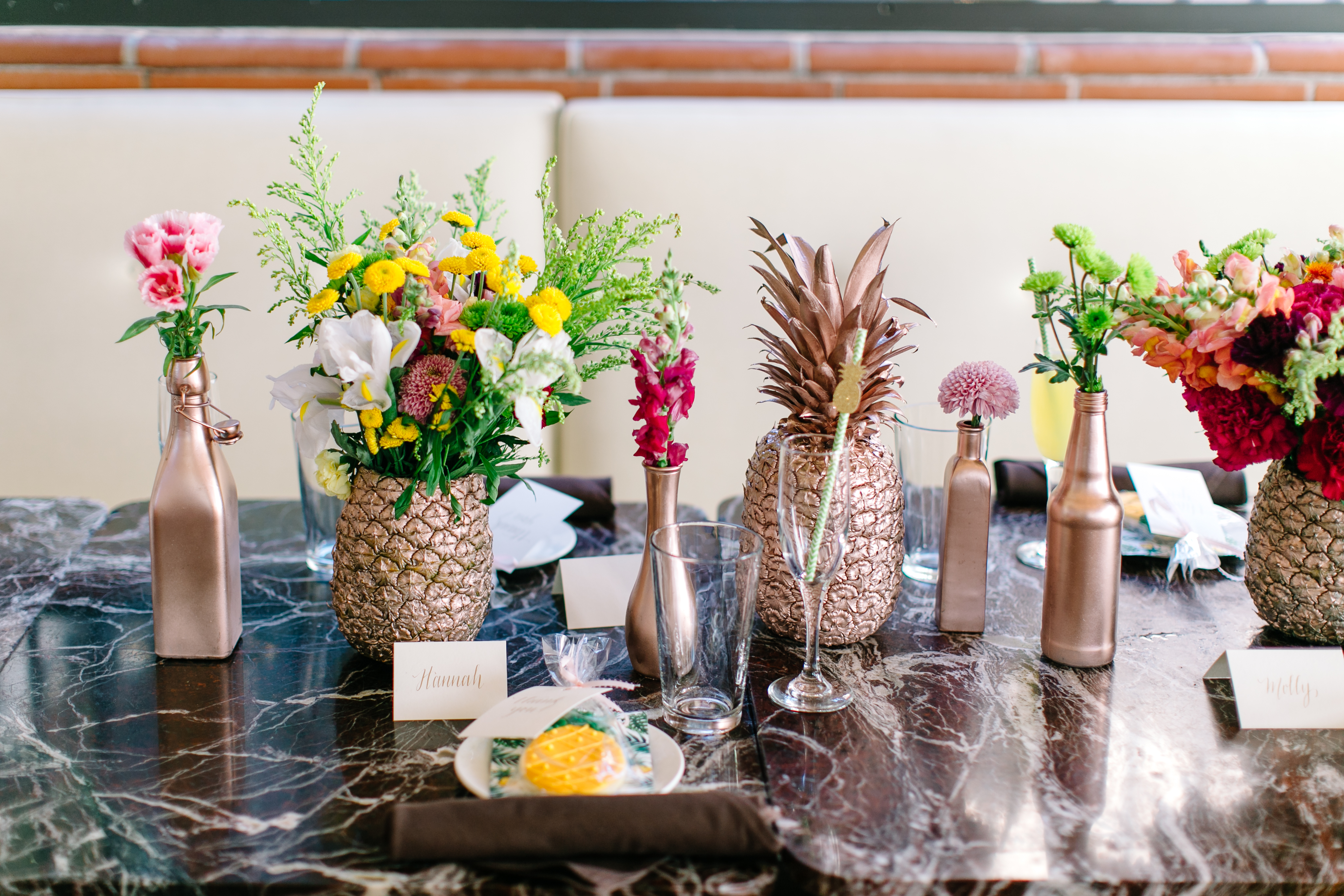 How to create a flower pineapple centerpiece