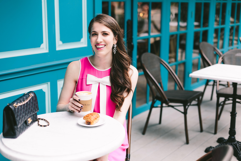 CeCe By Cynthia Steffe pink bow dress