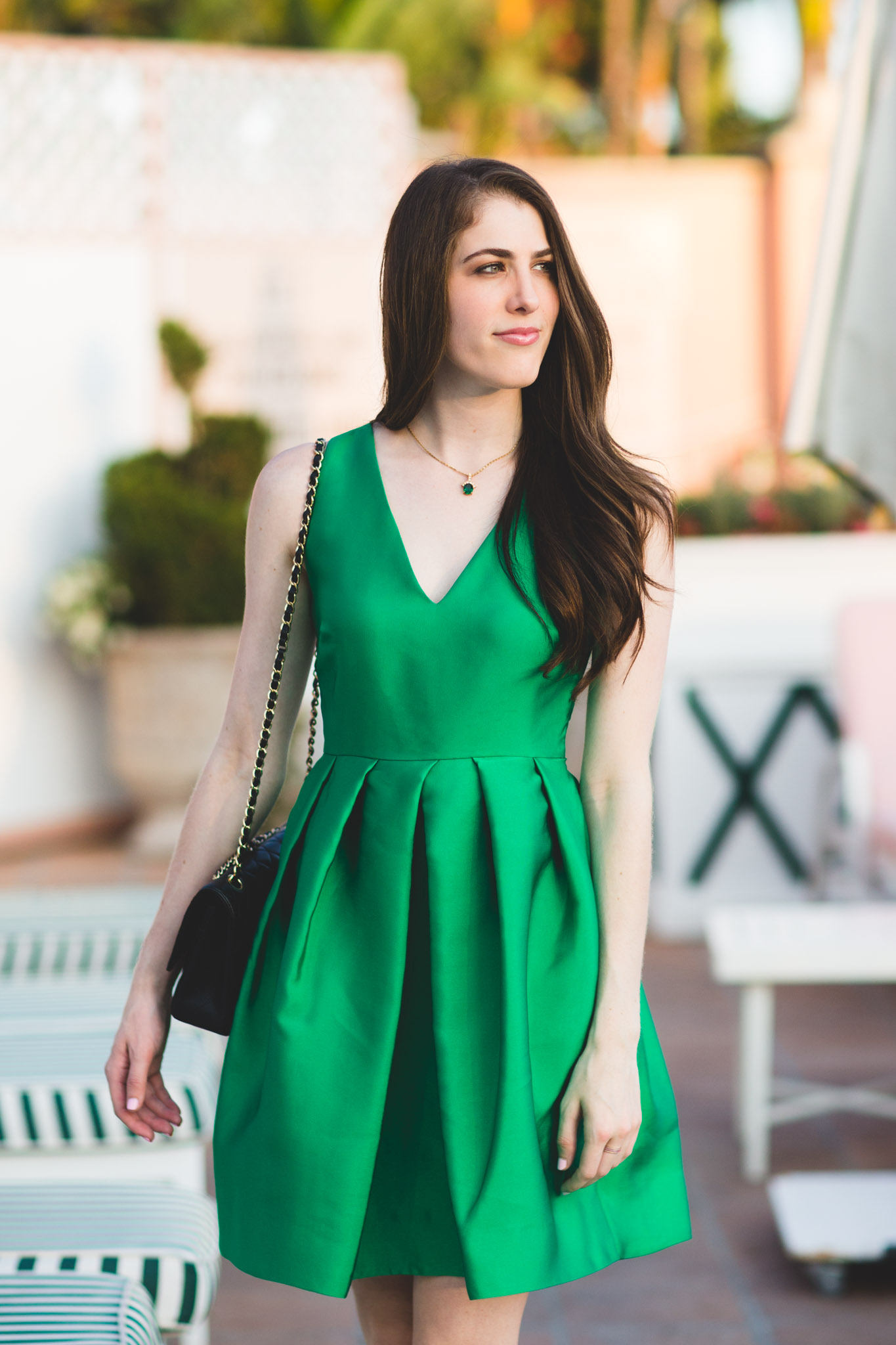 Erin Erin Fetherston emerald flare dress