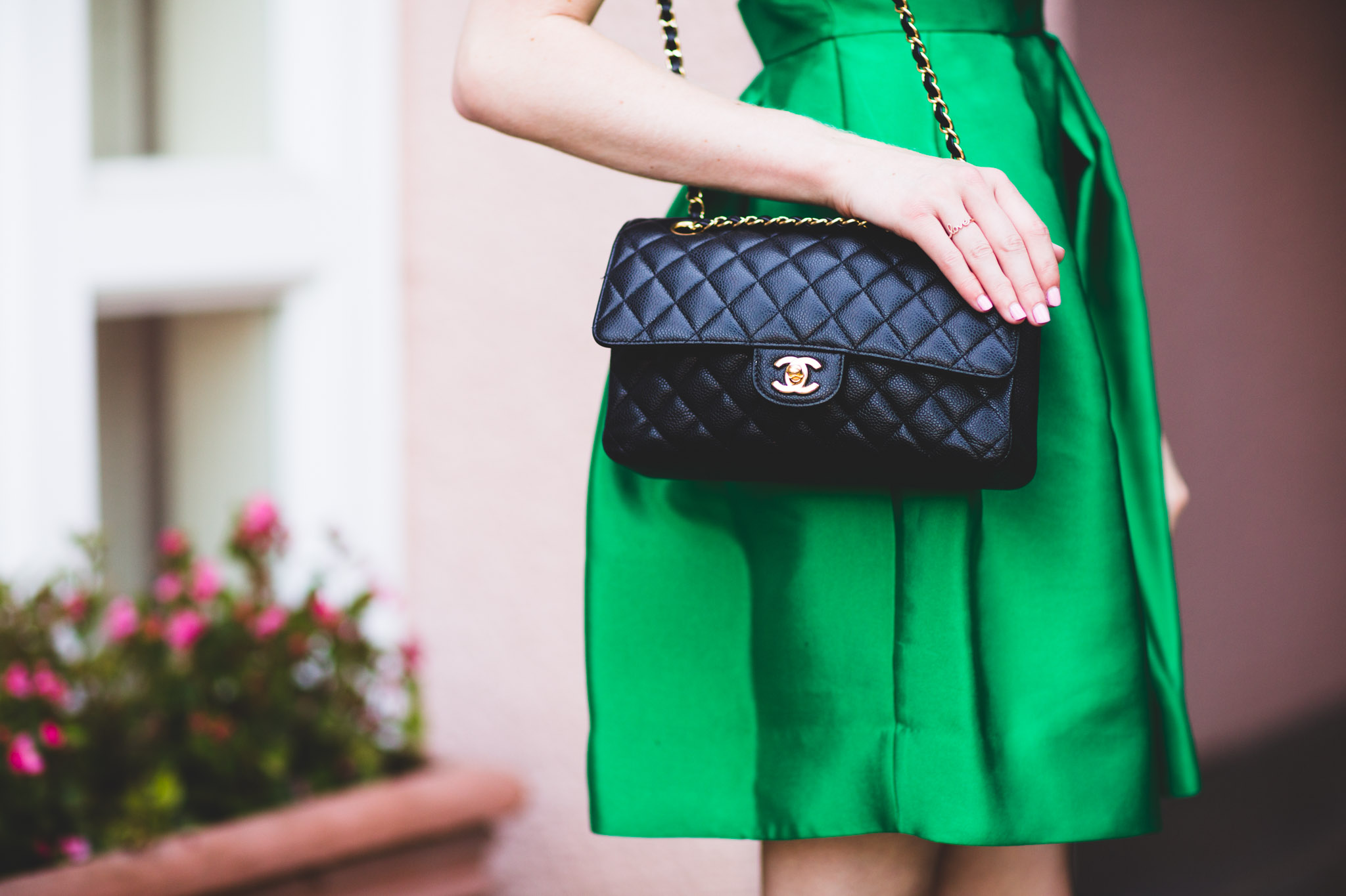 Black quilted Chanel purse