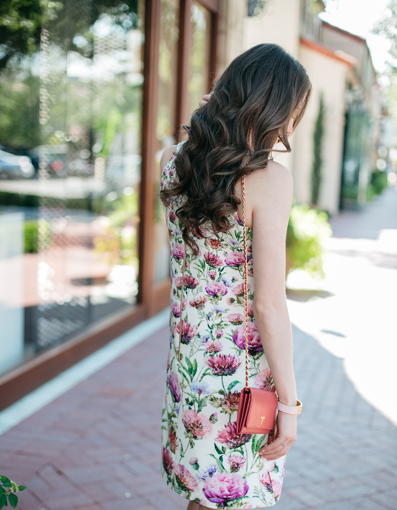 Ted Baker pink peonies dress