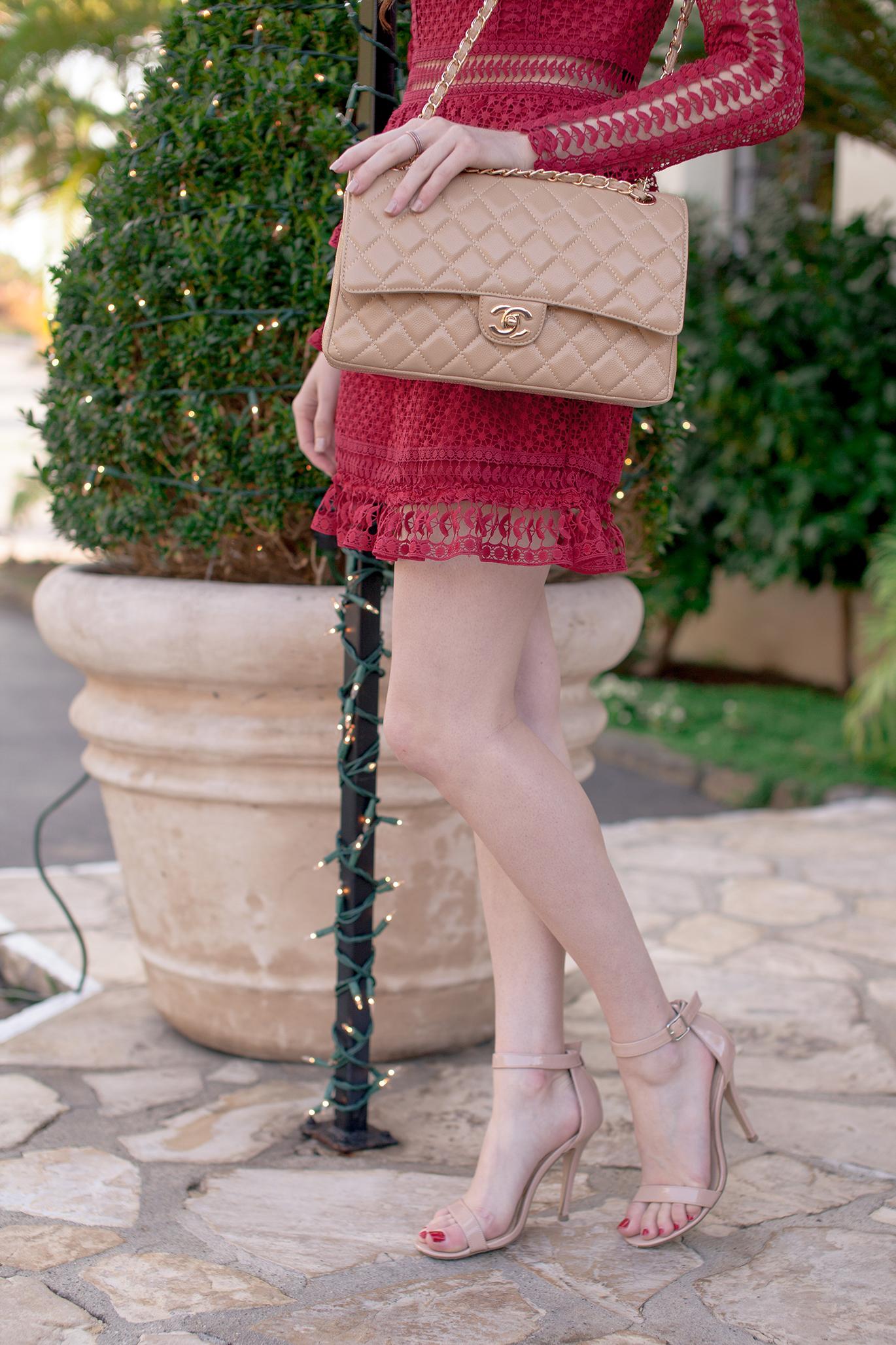 Nude Chanel handbag