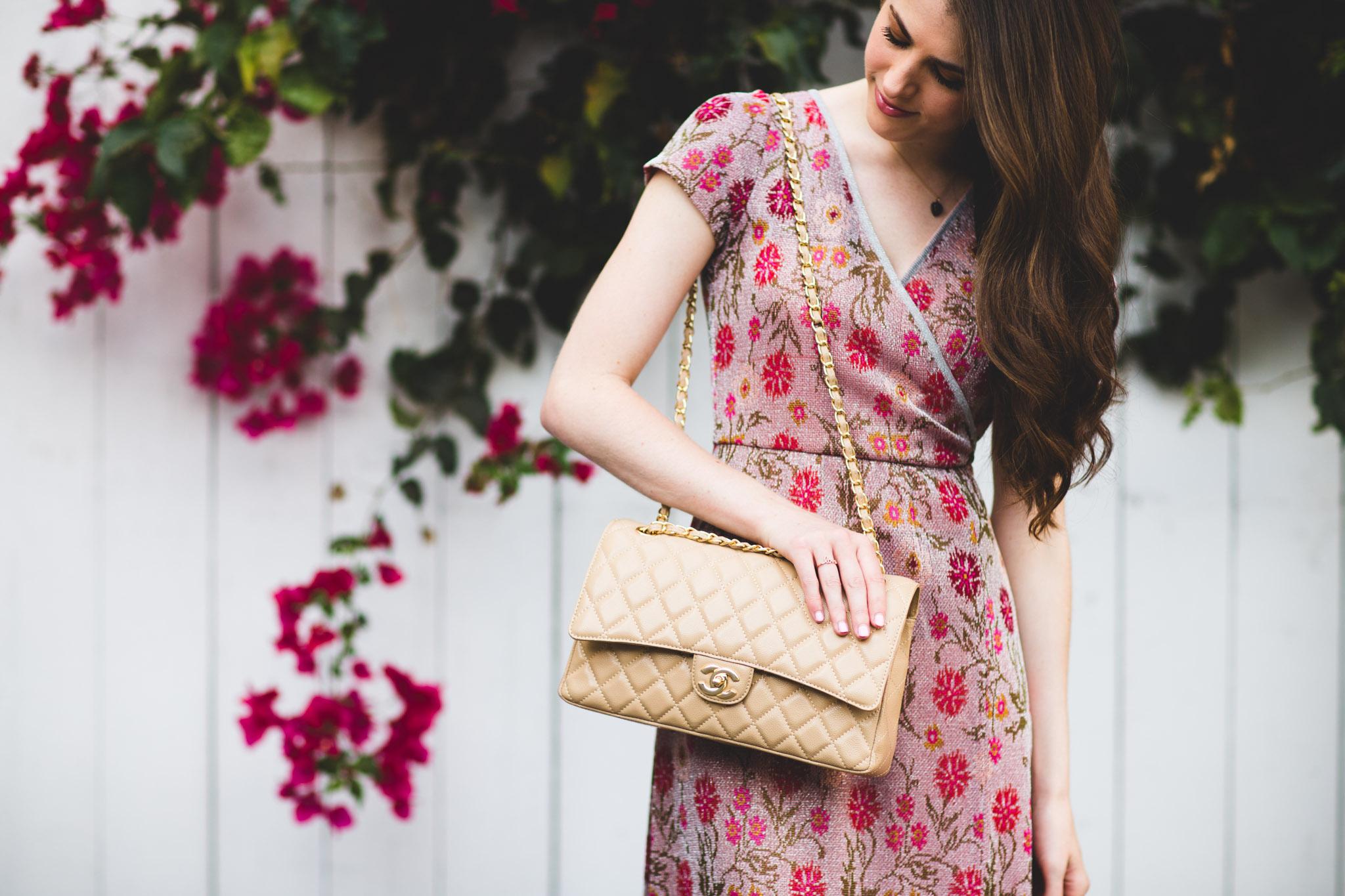 Camel Chanel handbag