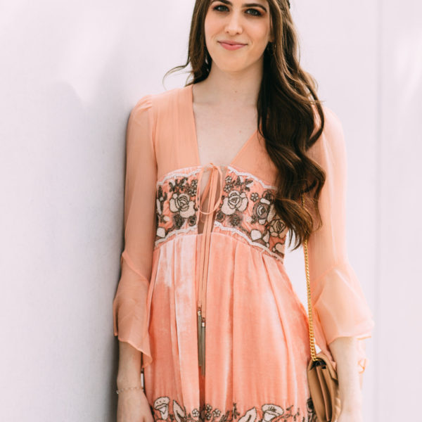 Free People Gemma's limited edition holiday dress rose