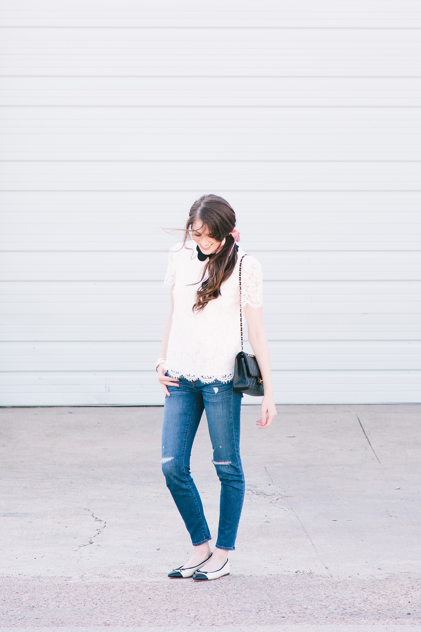 J.Crew ripped skinny jeans