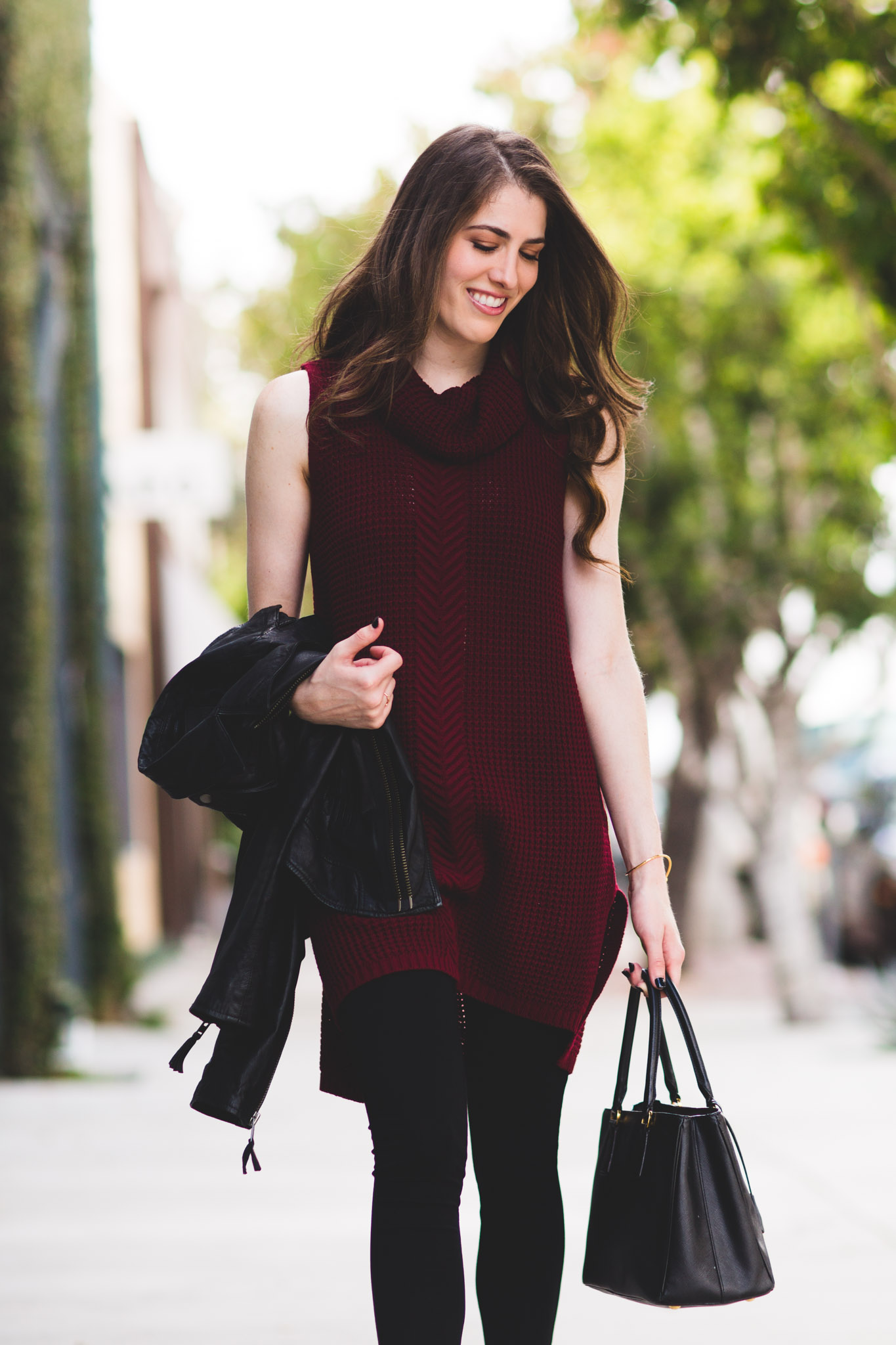 Two by Vince Camuto burgundy sweater dress