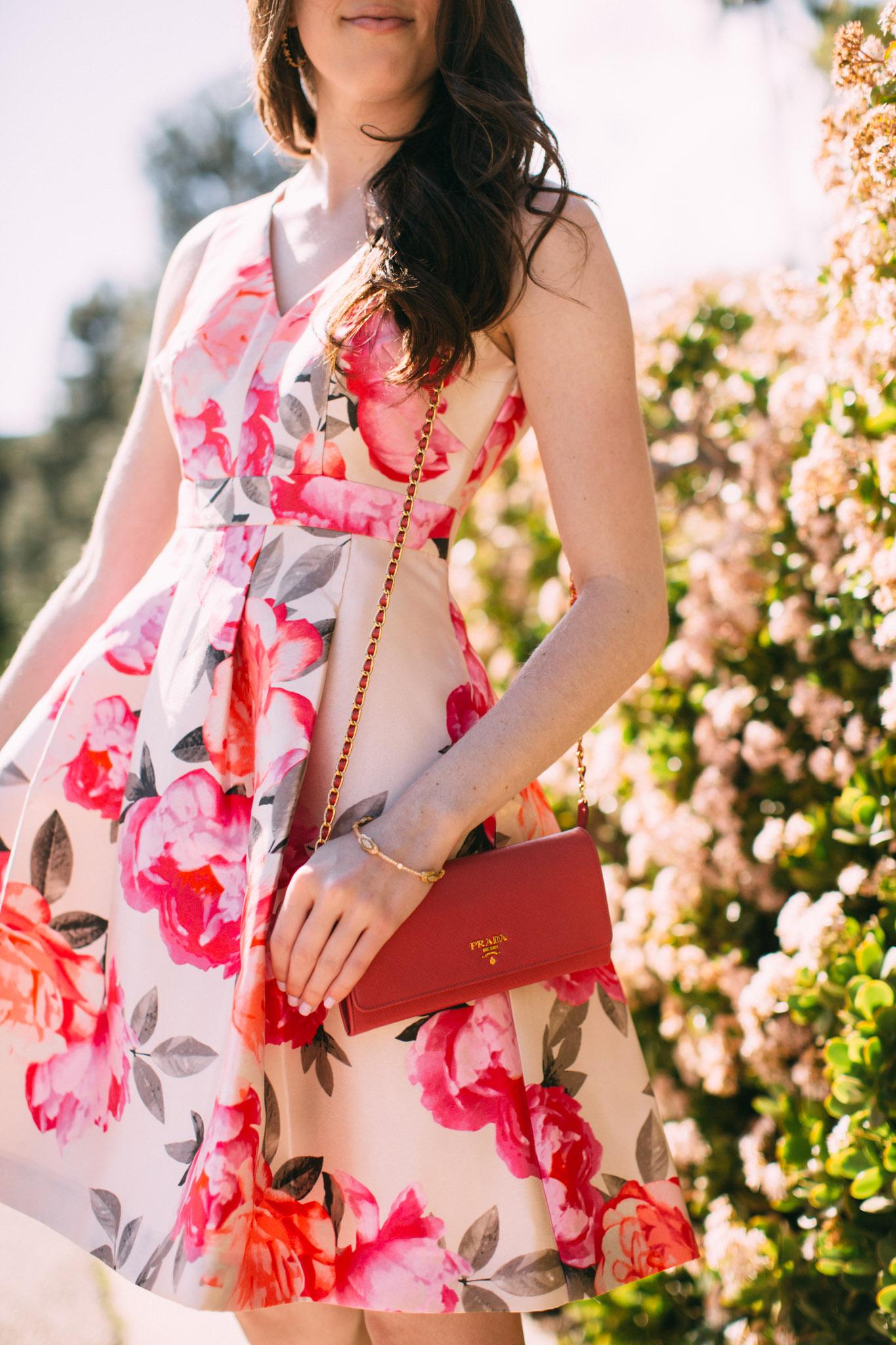 Small pink Prada purse