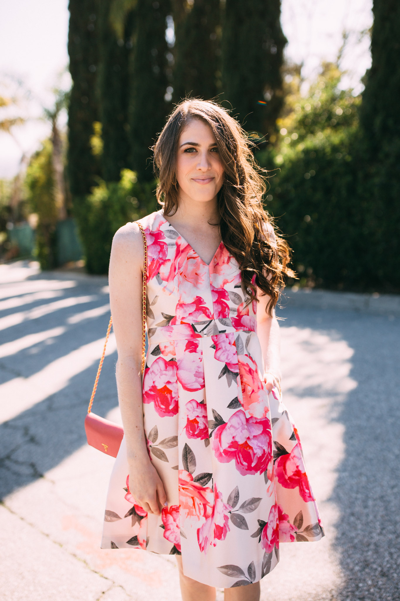 Eliza J floral mikado fit and flare dress