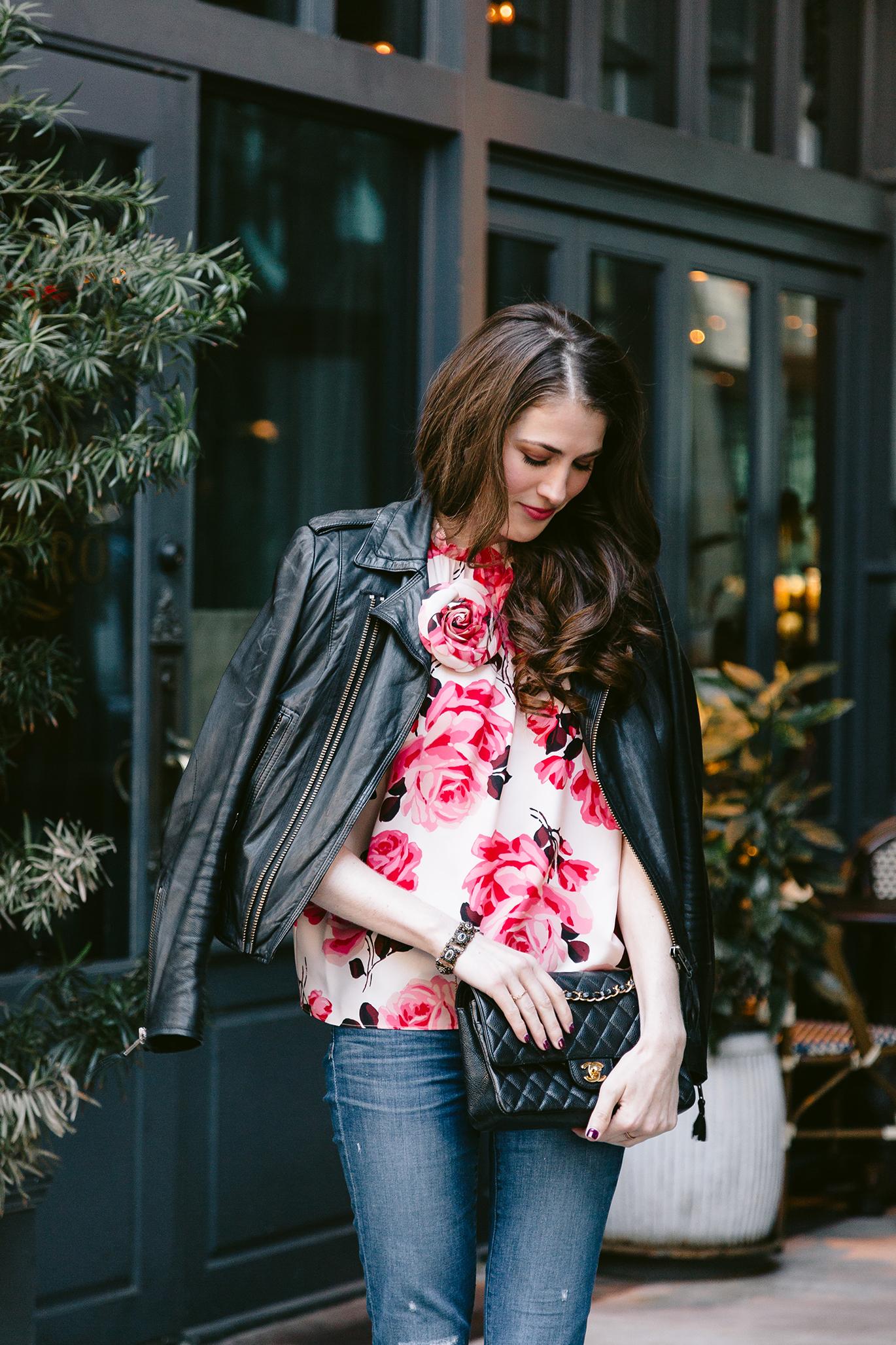 Kate Spade rosa silk top