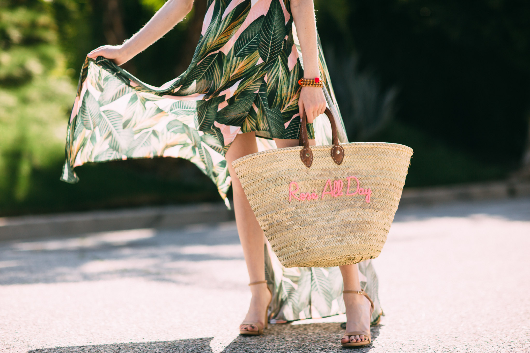 Rosé all day Poolside beach tote
