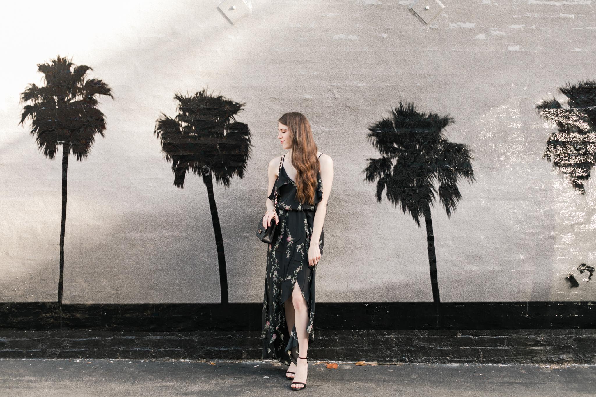 Palm tree mural Venice, California