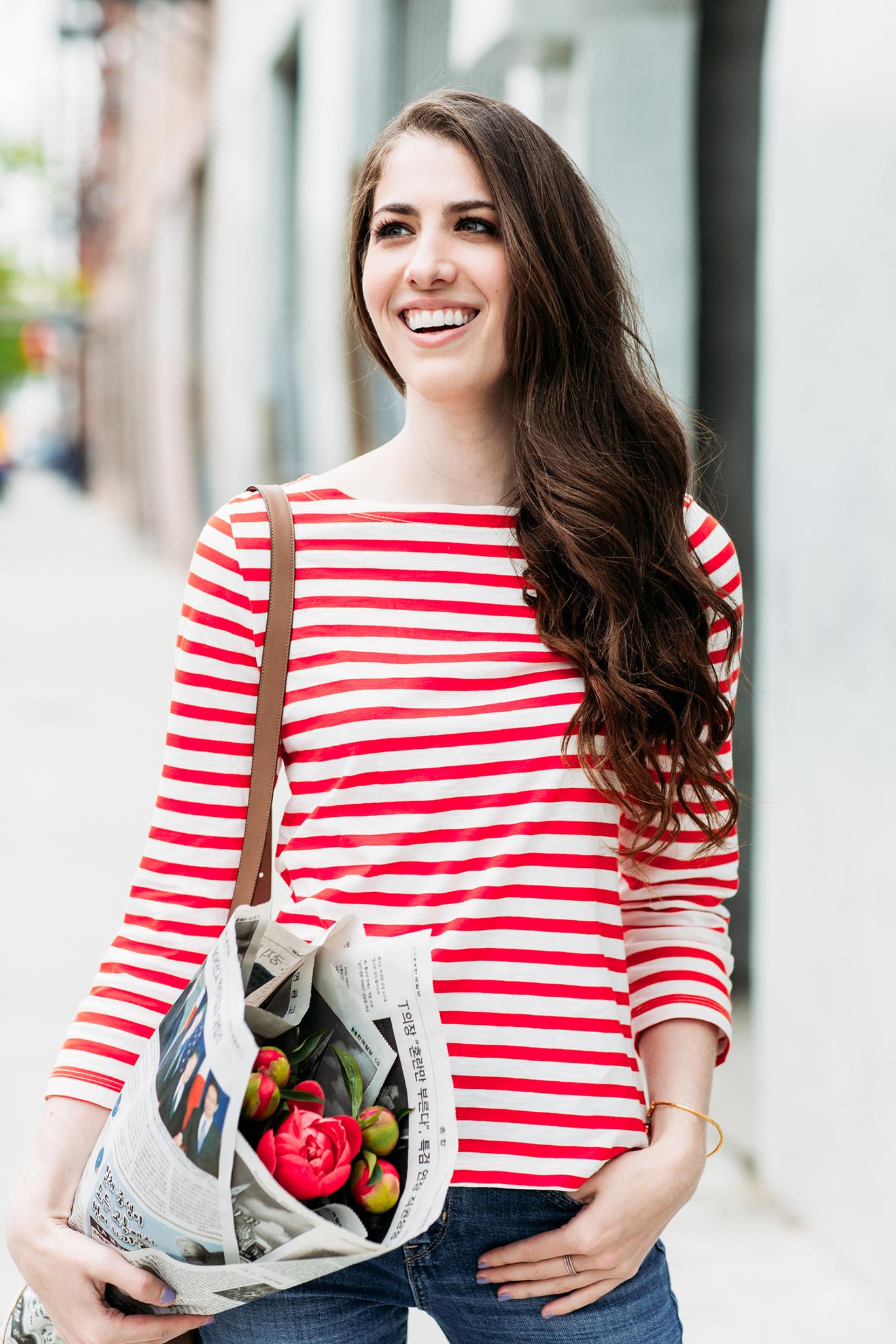 J.Crew stripe shirt