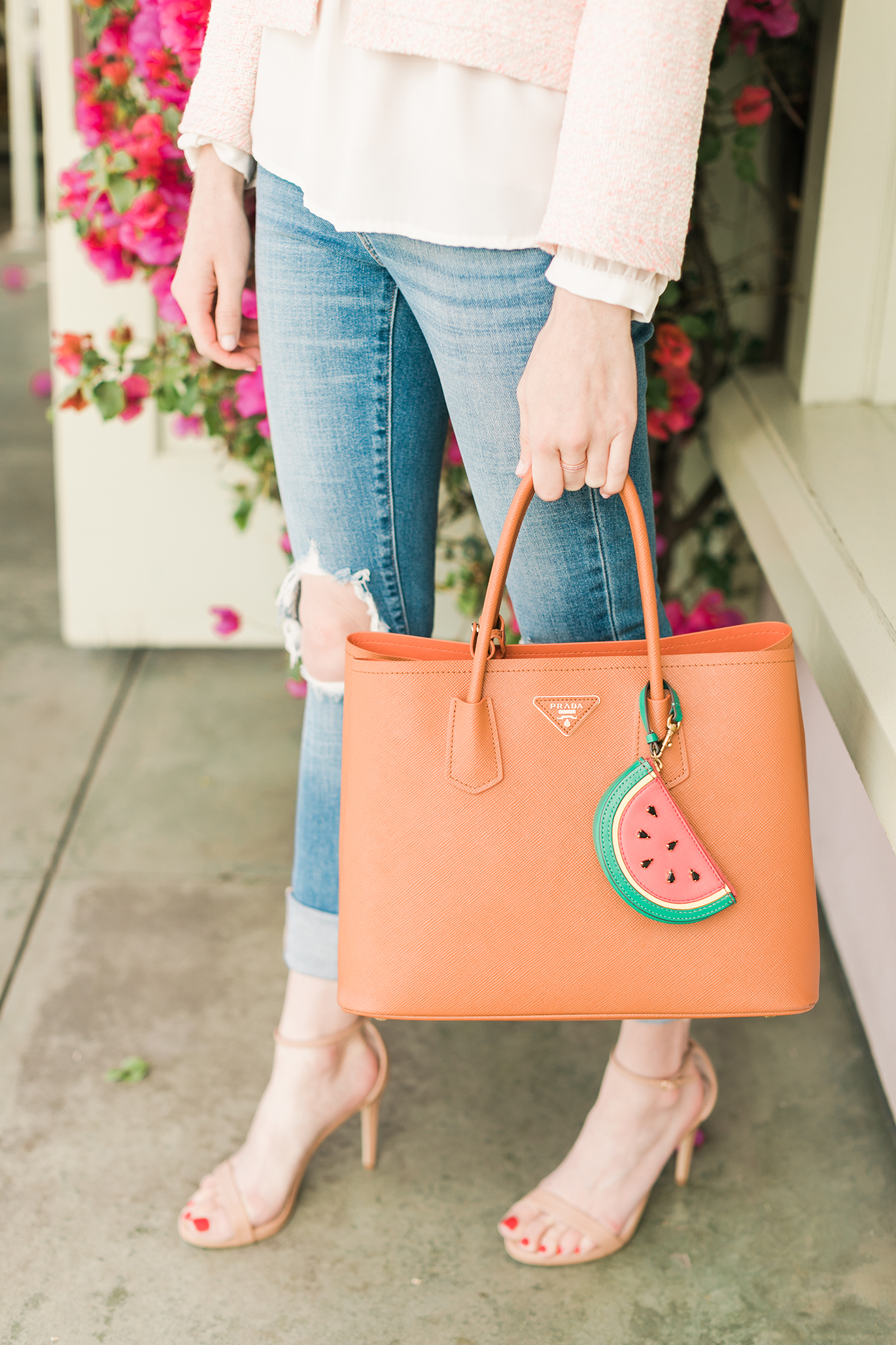 J.Crew watermelon bag charm
