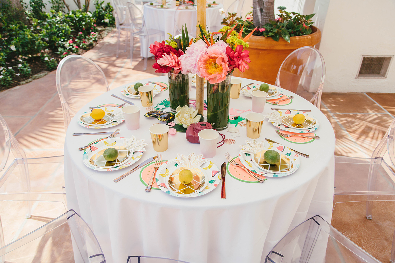 Fruit-inspired tablescape