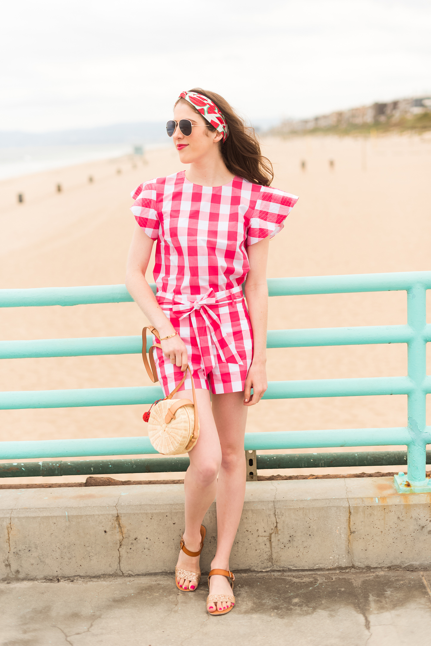 Draper James gingham romper
