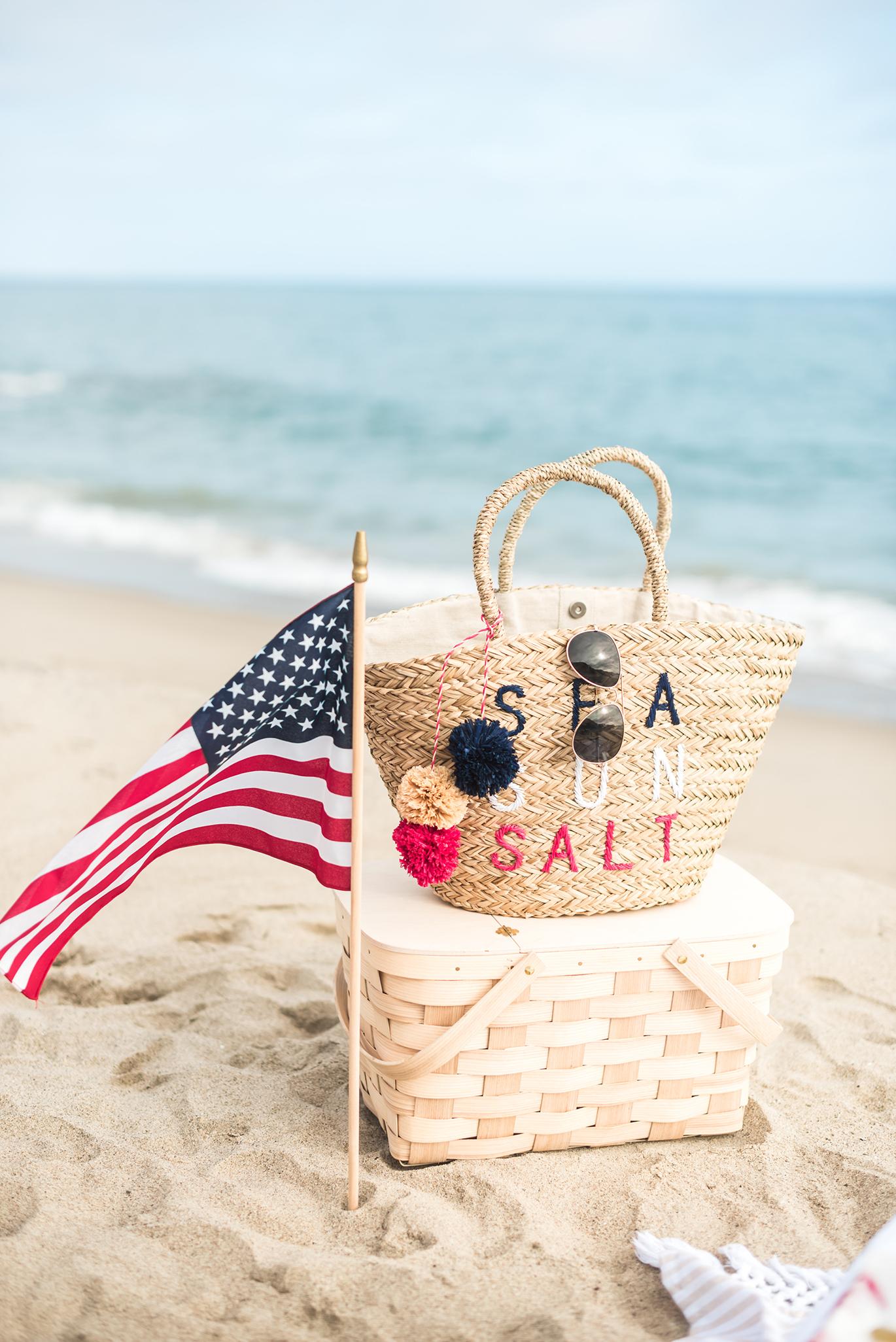 Cute summer beach totes
