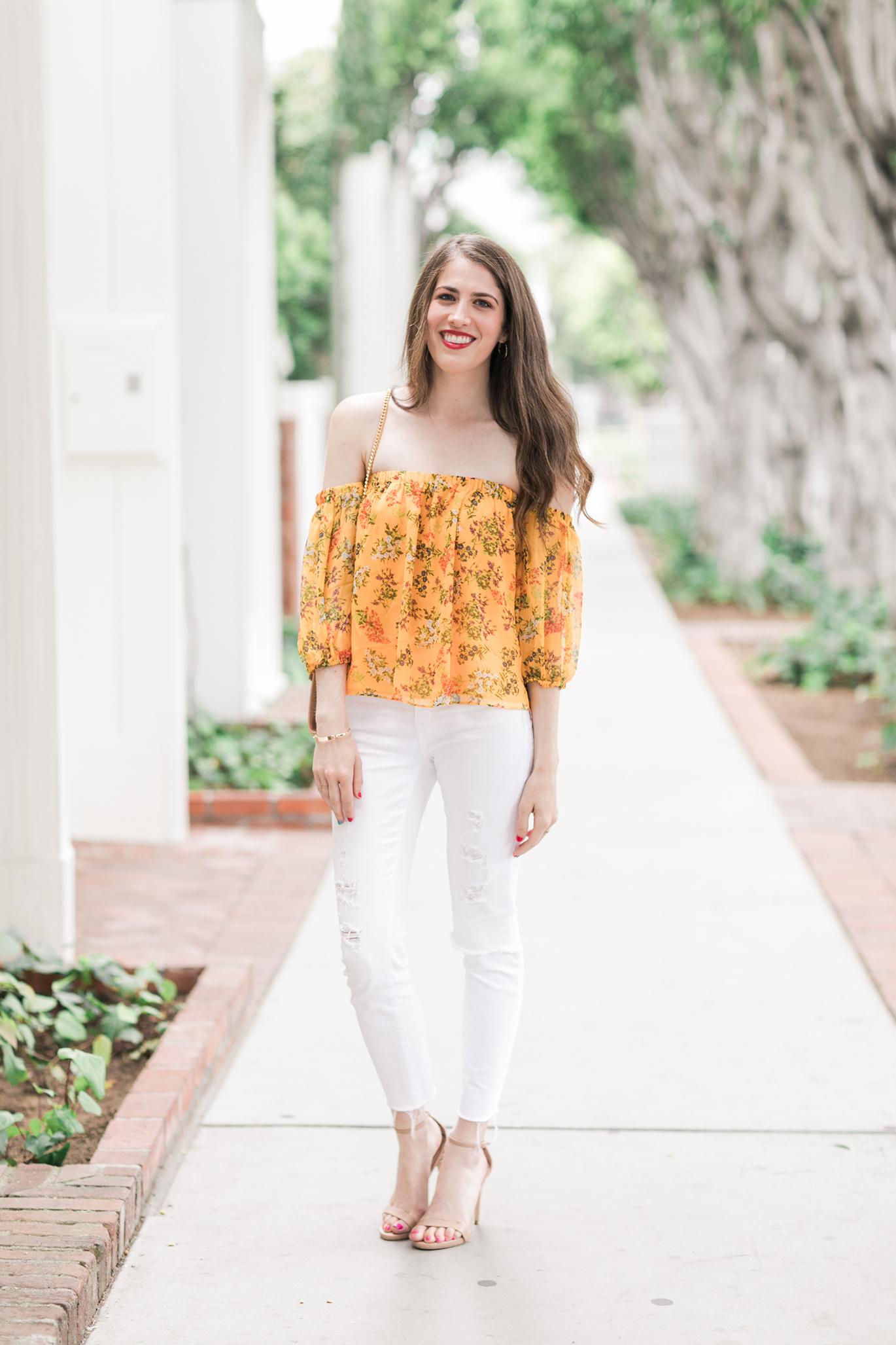 Madewell white ripped jeans