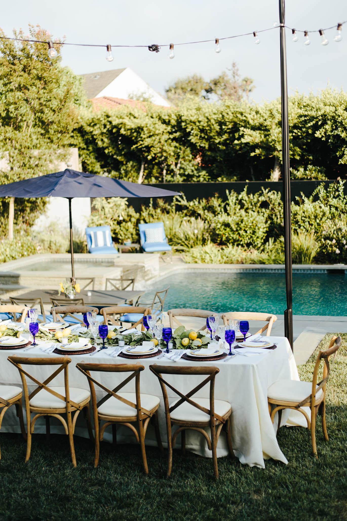 Italian summer dinner party