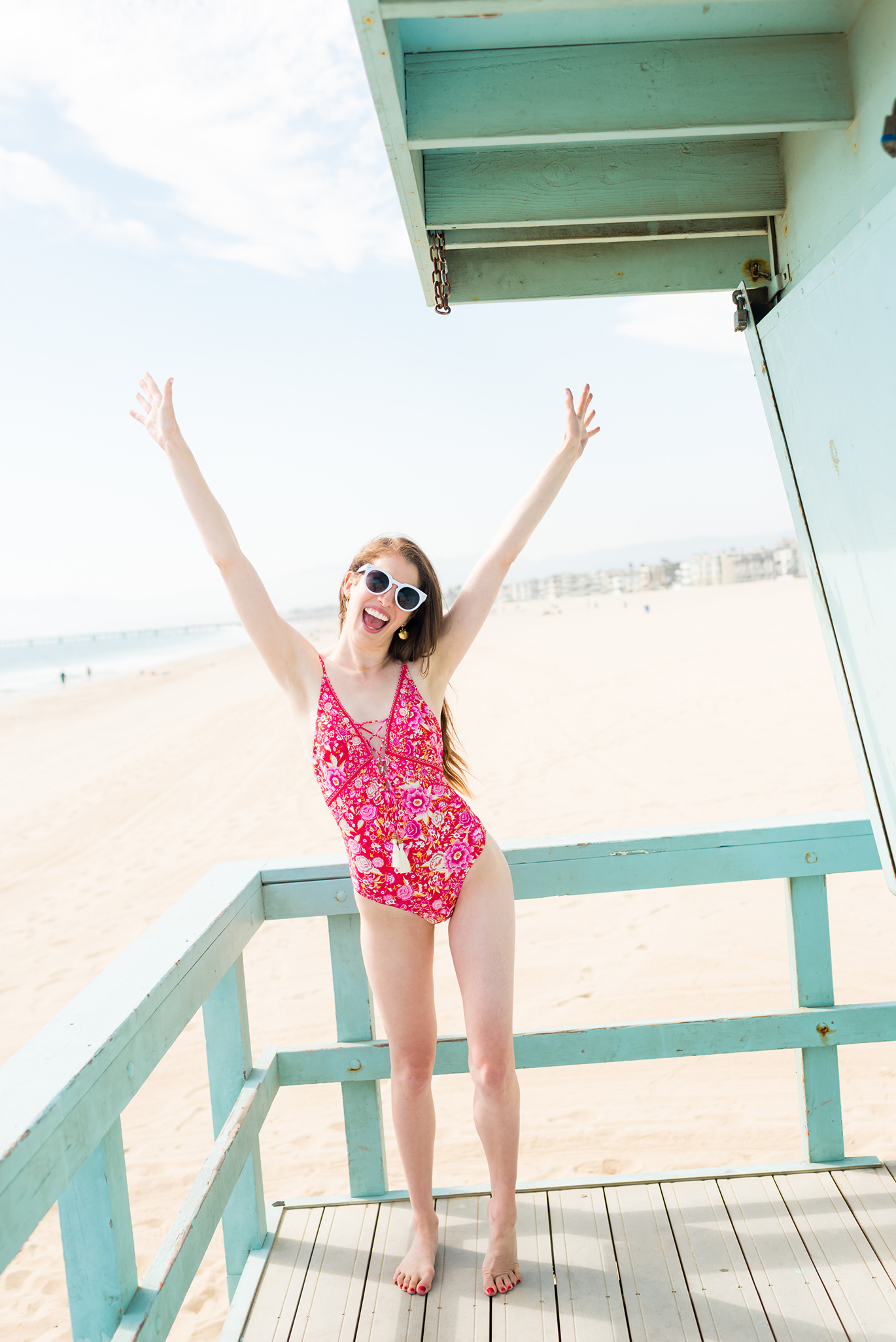 Colorful one-piece bathing suit