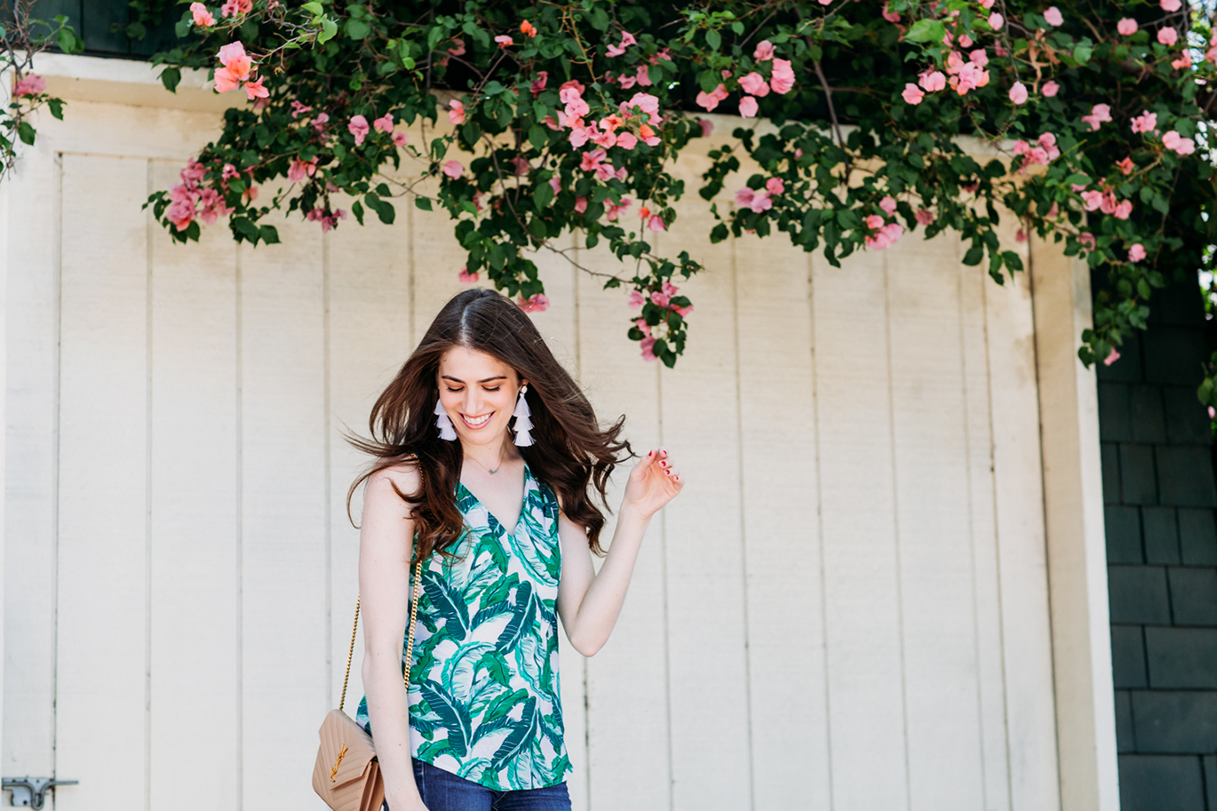 Old Navy palm print top