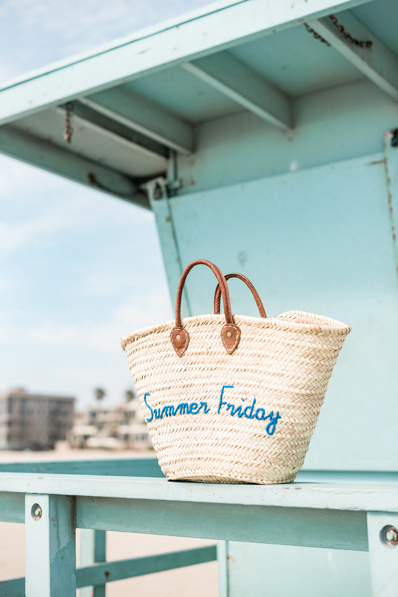 Poolside Bags straw tote