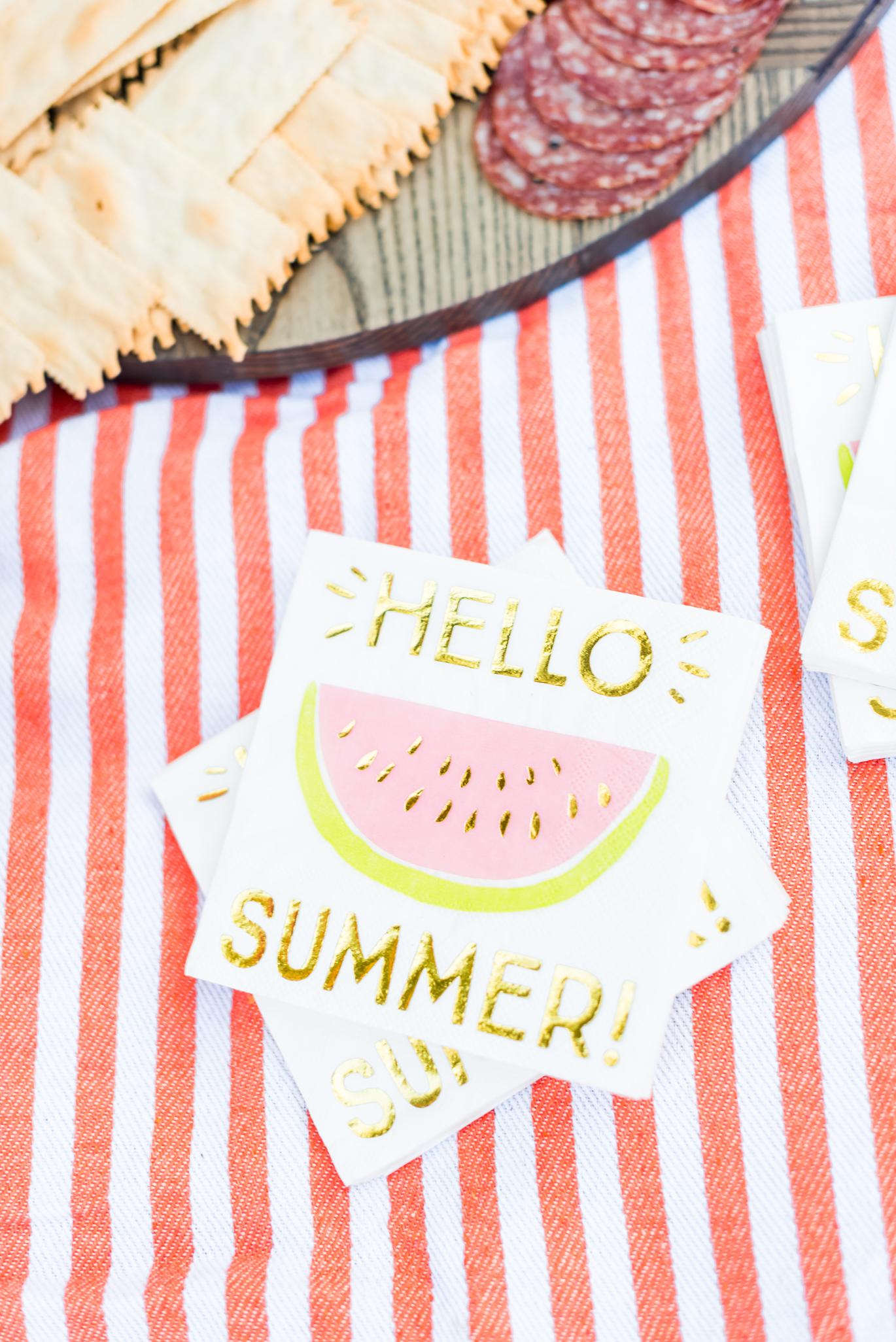 Summer cocktail napkins