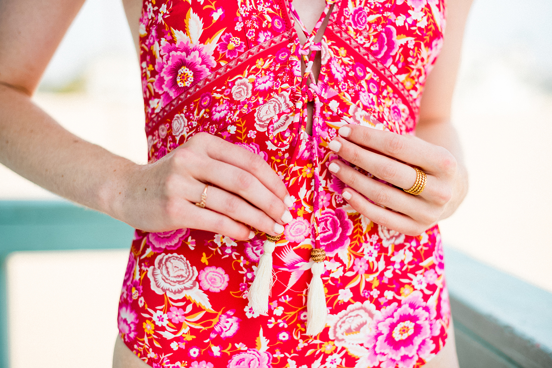 Spell Babushka lace-up swimsuit