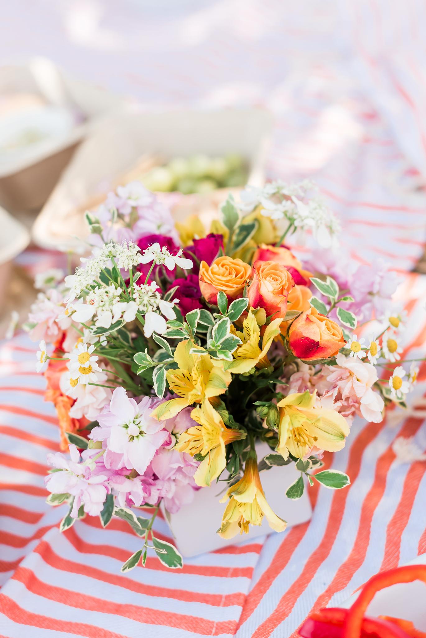 Summer floral arrangement