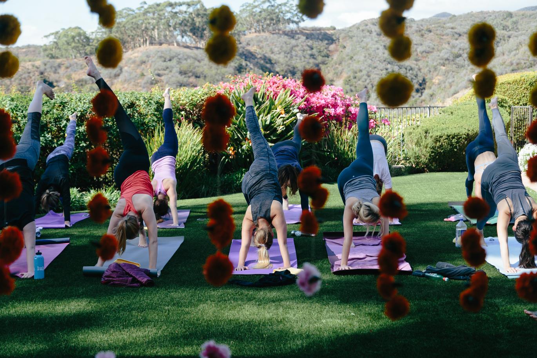 Bumble BFF yoga class